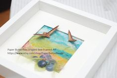Open Air Mixed Media Shadowbox by PaperButterfliesM on Etsy