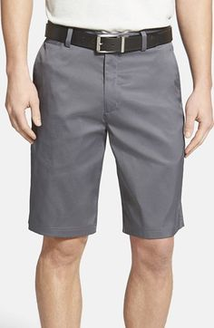 Nike Flat Front Golf Shorts available at #Nordstrom