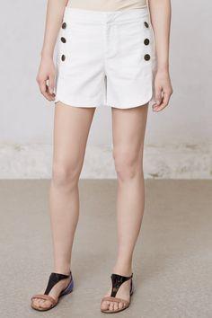"Anthropologie: Tulip Sailor Shorts by Cartonnier, cotton & spandex, 4.5"""