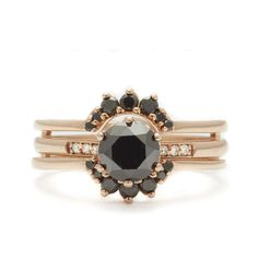 Hazeline Ceremonial Set Engagement Ring Commitment Ring unique Designer Jewelry – Anna Sheffield Jewelry