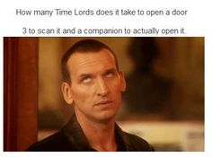 Everyone says how they wished Eccleston was there for the regeneration scene, but more than that I wish he could have popped through one of those wormholes into the Tower. Gave his past and future selves this look kicked down the door and popped back out. <---Fantastic!<----yes, a thousand times yes!