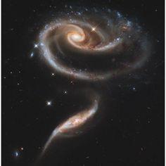 Arp 273 interacting galaxies in Andromeda Canvas Art - Stocktrek Images (28 x 28)