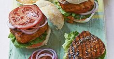A quick and healthy way to serve fish on the barbecue. Coat in spices and grill before stuffing into buns and serving with smoky paprika and lime mayo.