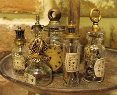 Steampunk Apothecary Vials 2 by ~JLHilton on deviantART