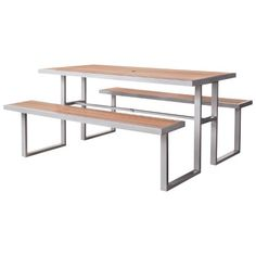 Bryant Faux Wood Patio Picnic Table - Threshold™ : Target