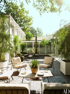 gorgeous updated mid-century patio