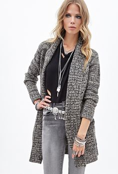 Textured Knit Cardigan | FOREVER21 - 2000136890