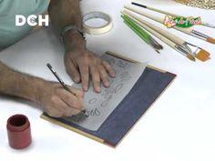 2º clase pintura decorativa. Estilo Bauern, técnica doble carga - YouTube