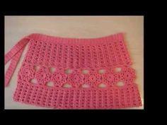 Falda con cuadrados o granny squares tejidos a crochet - YouTube Crochet Shorts, Crochet Clothes, Lace Shorts, Crochet Fabric, Crochet Baby, Crochet Top, Little Girl Dresses, Little Girls, Girls Dresses