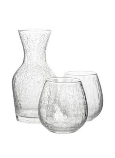 Hugo Carafe with Stemless Wine Glasses from Fred Segal