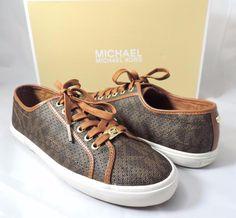 Women's Shoes MICHAEL Michael Kors BOERUM SNEAKER Lace Up Brown Size 10 #Michaelkors #FashionSneakers