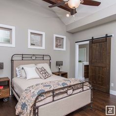 2015 HBA of Greater Springfield Parade of Homes  Essick Builders #paradecraze #paradeofhomes #EssickBuilders #bedroom #furniture #bed #headboard #pillows #bedding #bedspread #nightstand #lamp #barndoor #door #woodfloor #flooring #woodbeam #design #interiordesign #designer #interiordesigner #decor #homedecor #homedesign #home #house #parade2014hba #springfield #homebuilderassociationofgreaterspringfield by paradecraze