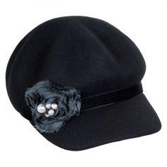 Callanan Hats Rosette Wool Felt Jockey Cap Casual Hats eb86648b4c3