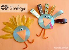 CD Turkey Craft by @kraftsandkiddos - Love this!