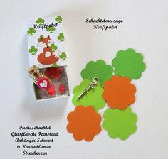 3D Karte - Kraftpaket Fuchs mit Inhalt & Anhänger  von ღKreawusel-Designღ auf DaWanda.com