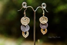 In here you will find pattern and instructions for an easy, quick and elegant earrings. Earrings are made of 3 elements that are connected together with either simple jump rings or by sewing.