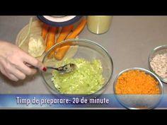 Salată de praz cu pui fiert - Leek salad with chicken - video