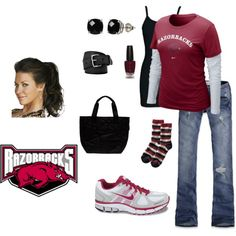 Outfit -- except I would change the whole thing to the colors of the Longhorns, Hook 'Em!
