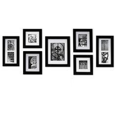 Features:  -Set includes 7-pieces black photo frame.  -Comes with an easy-to-hang template.  -Gallery collection.  -Does not include the artwork.  -Removable mat: Yes.  Style: -Modern.  Color: -Black.