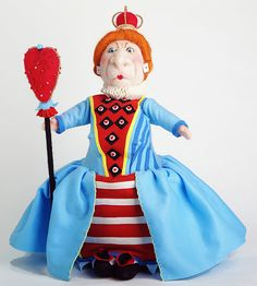 Needle felted and felt Queen of Hearts by Laura Lee Burch