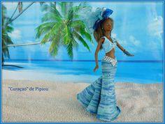 de Pipiou Barbie, Mannequin, Crochet, Elsa, Disney Characters, Fictional Characters, Creations, Cover Up, Summer Dresses