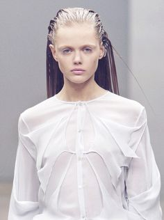 wink-smile-pout: Frida Gustavsson at Ann-Sofie Back Fall 2010
