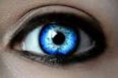 pretty blue eye contact