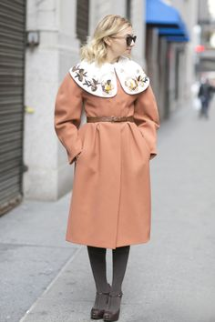 Nasiba Adilova's coat was like something out of a fairy tale.  Source: Tim Regas