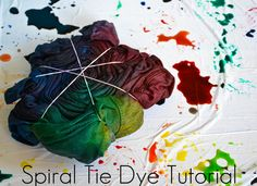 Slices of Samantha: Spiral Tie Dye Tutorial... Always really wants to tie dye!!!