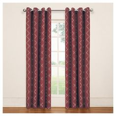 Eclipse Thermaback Tipton Trellis Blackout Grommet Curtain Panel - Sangria Red