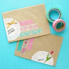 Aqua and Yellow trio washi tape flowers polka dot by dkshopgirl