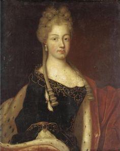 Circle of Nicolas de Largillière, portrait of Anne Christine of Sulzbach (1704-1723)