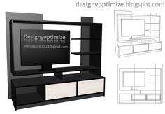 Diseños De Muebles: Armarios, Cocinas, Bibliotecas, Etc.: Construir Mueble Principal Para TV LED, LCD, Pantalla Plana - Centro de Entretenimiento - Sala - Hogar