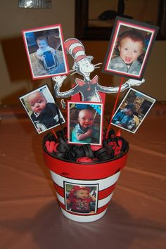 make 2 in larger versions and add photos: 1 - people we have lost 2 - survivors/fighters Boys First Birthday Party Ideas, Dr Seuss Birthday Party, Twin First Birthday, First Birthday Parties, Dr Seuss Party Ideas, Cat In The Hat Party, Dr Seuss Baby Shower, Twins 1st Birthdays, Birthday Pictures