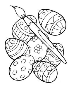 63 Best Easter Egg Coloring Pages Images Coloring Pages Easter