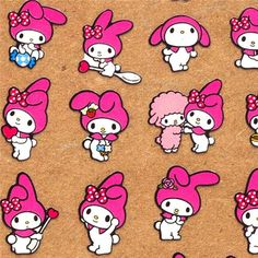 cute My Melody sticker sheep Japan kawaii  sticker with many My Melody rabbits and pink sheep by Sanrio