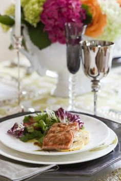 Salmon with Warm Sesame-Soy Salad