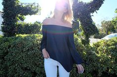 We need this off-the-shoulder top in our closets ASAP!