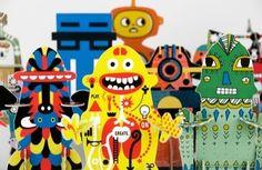 Make your own robots: David Shrigley, Jon Burgerman, eBoy, Airside and Donna Wilson.