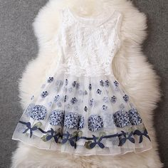 Designer Gorgeous Embroidered Lace Dress For Women -