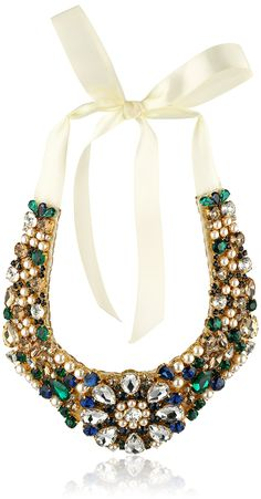 "$373.50 kate spade new york ""Pearl Mix"" Multi-Bib Necklace"