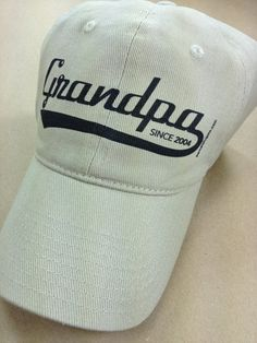 5c14cd3f0548c Grandpa Since Personalized Custom Hats by Pamela Fugate Designs - order now  for Father s Day! include a matching tshirt!