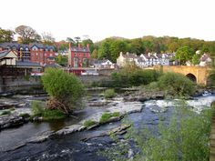 Llangollen, in North Wales is a picture-perfect town on the River Dee.