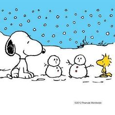 Snoopy in the snow