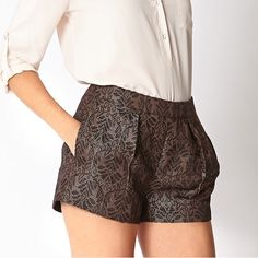 Forever 21 Bronze and Black Shorts Forever 21 short knit shorts, NWT. No damages, no trade. Forever 21 Shorts