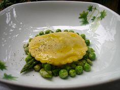 Green ravioli