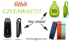We're giving away a Fitbit! The winner will have a choice of a Flex, One, or Zip. Just one winner, and one Fitbit. Go enter!!