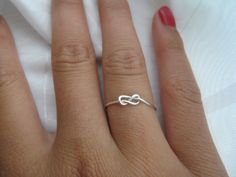 Thanks for helping us tie the knot! Infinity Knot RIng by DesignedByLei on Etsy, $9.50