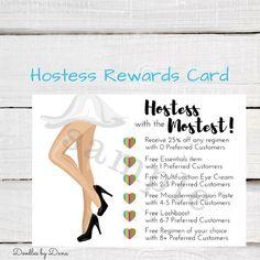 Rodan + Fields Hostess Rewards Card - Rodan and Fields - Business Marketing - Digital File - Printable by DoodlesbyDana on Etsy