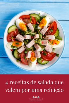 Fresco, Diet Recipes, Zucchini, Food And Drink, Low Carb, Lunch, Vegetarian Recipes, Healthy Recipes, Healthy Salads